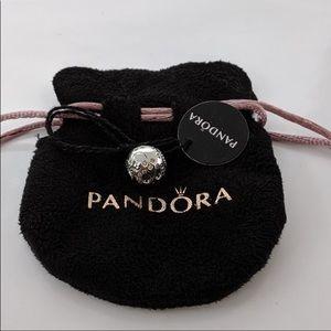 Authentic Pandora sparkling sugar skull